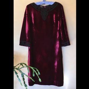 Vintage 1960's R&K Originals velvet dress